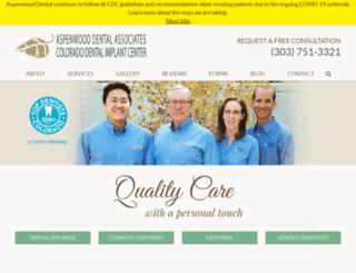 aspenwooddental.com screenshot