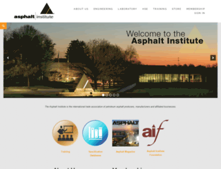 asphaltinstitute.org screenshot