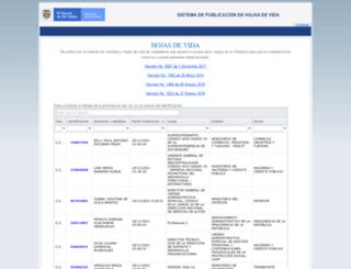 aspirantes.presidencia.gov.co screenshot