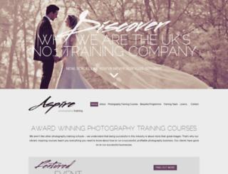 aspirephotographytraining.co.uk screenshot