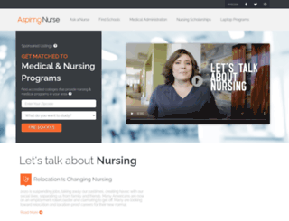aspiringnurse.com screenshot