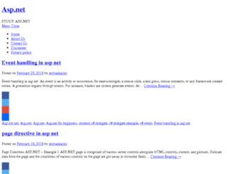 aspnetcenter.com screenshot