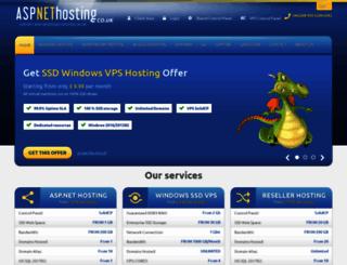 aspnethosting.co.uk screenshot