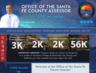 assessor.santafecountynm.gov screenshot
