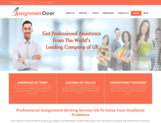 assignmentdoer.co.uk screenshot
