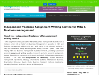 assignmentwriters.co.uk screenshot