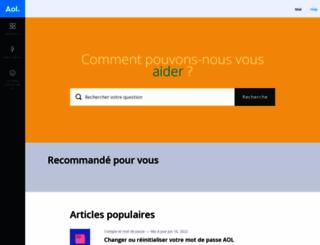 assistance.aol.fr screenshot