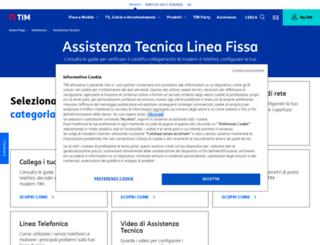 assistenzatecnica.telecomitalia.it screenshot