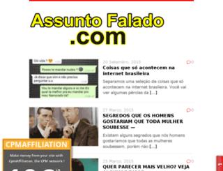 assuntofalado.com screenshot