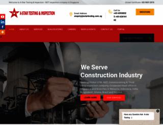 astartesting.com.sg screenshot