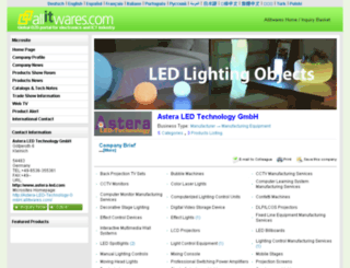 astera-led-technology-gmbh.allitwares.com screenshot