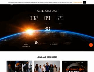 asteroidday.org screenshot