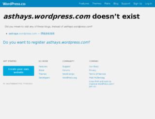 asthays.com screenshot