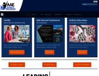 asthmaeducators.org screenshot