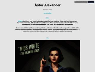 astoralexander.tumblr.com screenshot