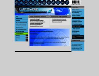 astro-planetcode.com screenshot