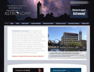 astro.berkeley.edu screenshot
