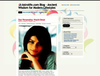 astrolife.wordpress.com screenshot