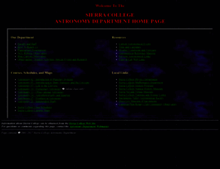 astronomy.sierracollege.edu screenshot