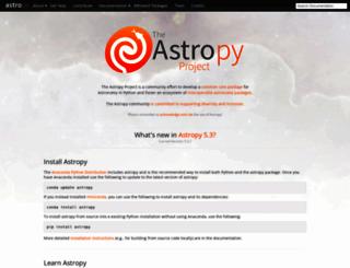 astropy.org screenshot
