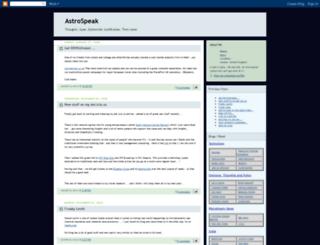 astrospeak.blogspot.fr screenshot