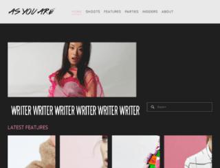 asyouaremagazine.com screenshot
