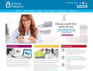 at-homeprofessions.edu screenshot