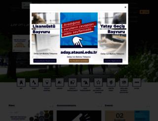 atauni.edu.tr screenshot