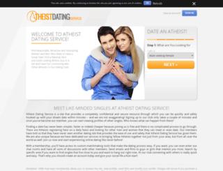 atheistdatingservice.com screenshot