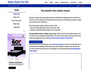 athensairporttaxi.com screenshot