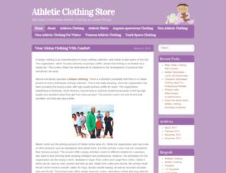 athleticclothingblog.wordpress.com screenshot