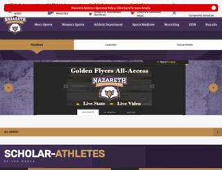 athletics.naz.edu screenshot