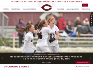 athletics.uchicago.edu screenshot
