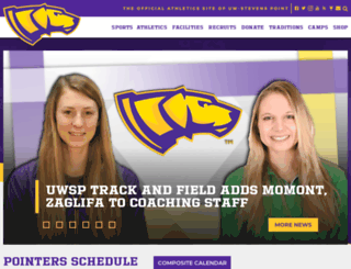 athletics.uwsp.edu screenshot