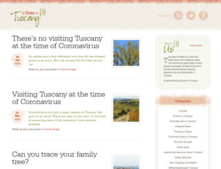 athomeintuscany.org screenshot