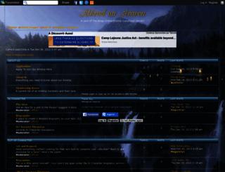 athradanaearon.editboard.com screenshot