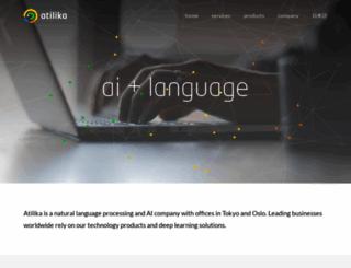 atilika.com screenshot