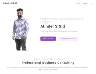atinder-gill.com screenshot
