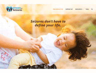 atkinsforseizures.com screenshot