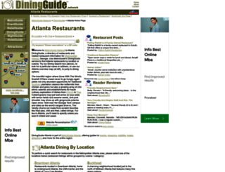 atlanta.diningguide.com screenshot
