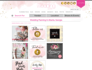 atlanta.perfectweddingguide.com screenshot