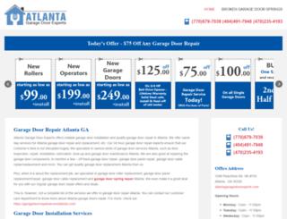atlantagaragedoorexperts.com screenshot