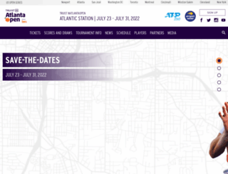 atlantatennischampionships.com screenshot