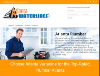 atlantawaterlines.net screenshot