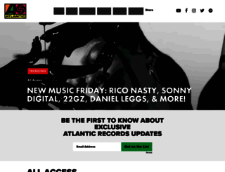 atlanticrecords.com screenshot