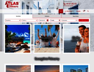 atlastours.pl screenshot