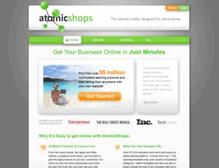 atomicshops.com screenshot
