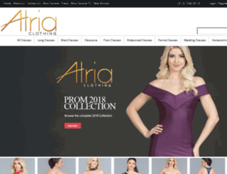 atriaclothing.com screenshot