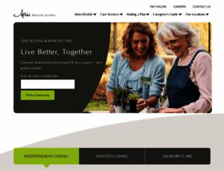 atriaseniorliving.com screenshot