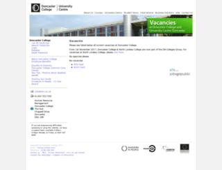 ats-doncastercollege.jobsgopublic.com screenshot